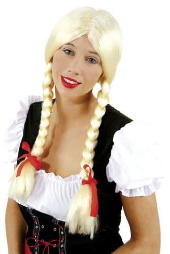 """Perücke: Zopfperücke """"Heidi"""", schwarz - 1"""
