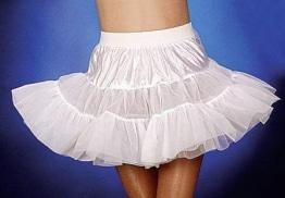 Petticoat, 3-lagig, weiß - 1