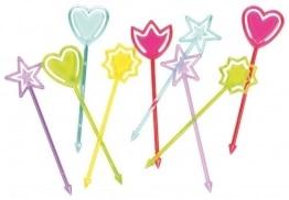 Picker: Party-Picks, farblich sortiert, verschiedene Motive, 9 cm, 30 Stück - 1