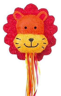 Pinata, Löwenkopf, befüllbar, für einen Kindergeburtstag, 40 cm - 1
