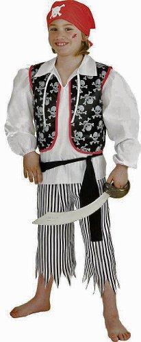 Pirat : Hemd, Weste, Hose, Tuch, Schärpe - 1