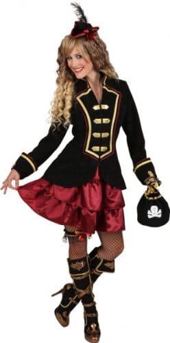 Piratin-Set (Mini-Dreispitz,Strumpfband) - 1