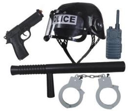 Polizei-Set: Accessoires für das Polizei-Kostüm - 1
