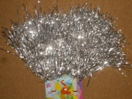 Puschel: Cheerleader-Pompon, Silberfolie, 160 g - 1