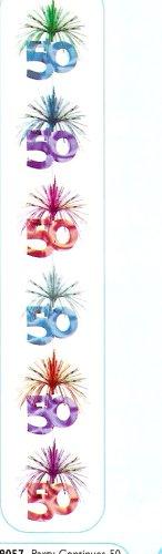 Raum-Kaskade: Geburtstagssäule, Zahl 50, 210 cm - 1