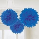 Riesen-Wabenball blau 60cm, Restposten Partydeko - 1