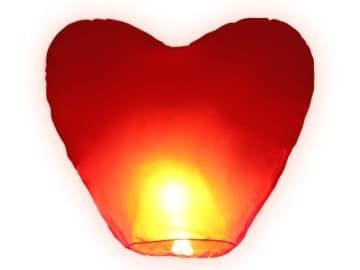 riesiges Herz zum  Hochzeitstag HIMMELSLATERNE  BALLON SKYLATERNE - 1