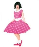 Rock 'n Roll Girl rosa und weiß gepunktet - 1