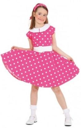 Rock 'n Roll Kleid pink-weiß - 1