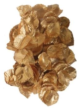 Rosenblätter, Textil, gold, 144er-Pack - 1