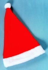 Rote Mütze für den Weihnachtsmann mit Plüsch - 1