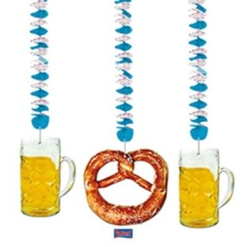 Rotorspirale: Rotorspiralen, weiß-blau, Bierglas und Brezel, 75 cm, 3er-Pack - 1