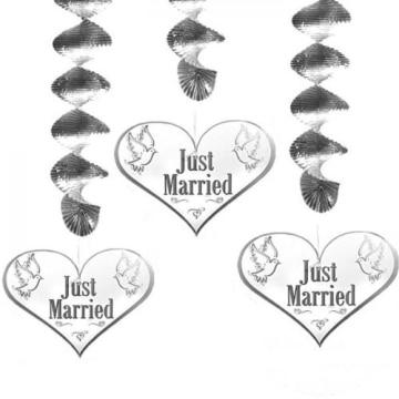 """Rotorspirale: Spirale mit Herz, """"Just Married"""", 75 cm lang, 3er-Pack - 1"""