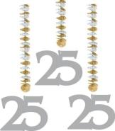 Rotorspirale, Zahl 25, 60 cm, 3er-Pack - 1