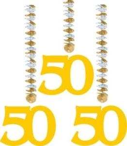 Rotorspirale, Zahl 50, 60 cm, 3er-Pack - 1