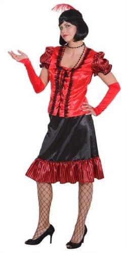Saloon-Lady rot-schwarz - 1