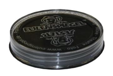 Schminke: Aqua-Schminke (Eulenspiegel), schwarz, 20 ml/30 g - 2