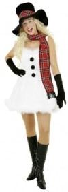 Schneegirl : Kleid, Petticoat, Hut und Schal - 1