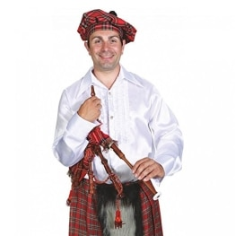 Schotten-Kostüm: Dudelsack (Spielzeug), rotes Schottenmuster - 1
