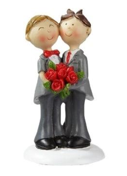 Schwules Hochzeitspaar: Gay-Brautpaar, 9 cm, Polyresin - 1