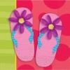 Serviette Flip-Flop Sommerparty, 16er-Pack - 1