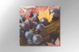 "Serviette ""purple grapes"" - 3-lagig - 33 x 33 cm - 1/4-falz - 20 Stück/Paket - 1"