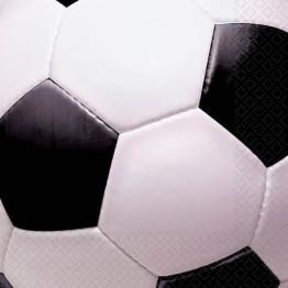 Servietten: Fußball-Motiv, 33 x 33 cm, 16er-Pack - 1