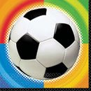 Servietten: Fußball-Motiv, bunt, 33 x 33 cm, 16er-Pack - 1