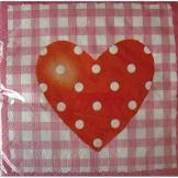 "Servietten: Herz-Servietten ""Sweet Love"", 33 x 33 cm, 20er-Pack - 1"