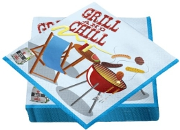 "Servietten: Motivservietten, ""Grill and Chill"", 30 x 30 cm, dreilagig, 20er-Pack - 1"
