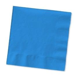 Servietten: Papierservietten, uni, dunkelblau, 30 x 30 cm, dreilagig, 20er-Pack - 1