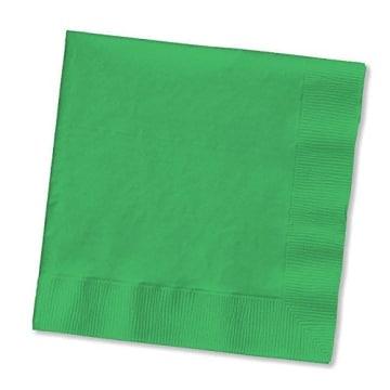 Servietten: Papierservietten, uni, dunkelgrün, 30 x 30 cm, dreilagig, 20er-Pack - 1