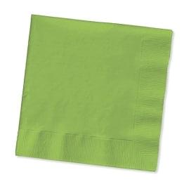 Servietten: Papierservietten, uni, maigrün, 30 x 30 cm, dreilagig, 20er-Pack - 1