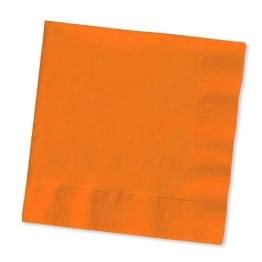 Servietten: Papierservietten, uni, orange, 30 x 30 cm, dreilagig, 20er-Pack - 1