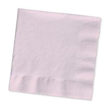 Servietten: Papierservietten, uni, rosafarben, 30 x 30 cm, dreilagig, 20er-Pack - 1