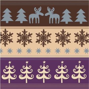 """Servietten: Party-Servietten """"Christmas"""", 33 x 33 cm, 20 Stück - 1"""