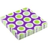 "Servietten: Party-Servietten ""Curl Purple"", 33 x 33 cm, 20 Stück - 1"