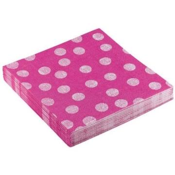 """Servietten: Party-Servietten """"Dots Pink"""", 33 x 33 cm, 20 Stück - 1"""