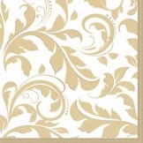 "Servietten: Party-Servietten, ""Elegant"", gold, 33 x 33 cm, 16 Stück - 1"