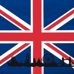"""Servietten: Party-Servietten, Großbritannien-Motiv """"Union Jack"""", 33 x 33 cm, 20 Stück - 1"""