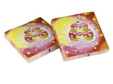 """Servietten: Party-Servietten, """"Happy Birthday"""", 33 x 33 cm, 20er-Pack - 1"""