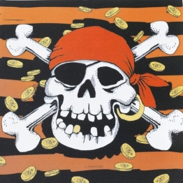 Servietten: Party-Servietten, Jolly Roger, 33 x 33 cm, 20er-Pack - 1