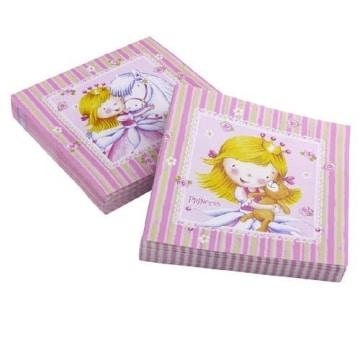 """Servietten: Party-Servietten, """"kleine Prinzessin"""", 33 x 33 cm, 20er-Pack - 1"""