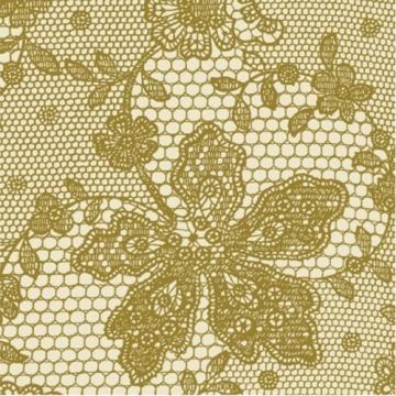 Servietten: Party-Servietten, Lace, creme, 33 x 33 cm, 20 Stück - 1