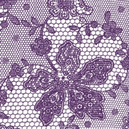 Servietten: Party-Servietten, Lace, lila, 33 x 33 cm, 20 Stück - 1