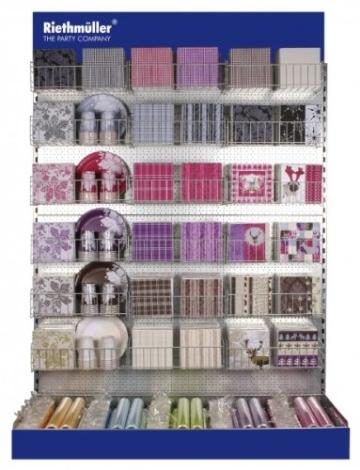 Servietten: Party-Servietten, Lace, rot, 33 x 33 cm, 20 Stück - 2