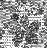 Servietten: Party-Servietten, Lace, schwarz, 33 x 33 cm, 20 Stück - 1