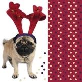Servietten: Party-Servietten, Santa, mit Hund, 33 x 33 cm, 20 Stück - 1