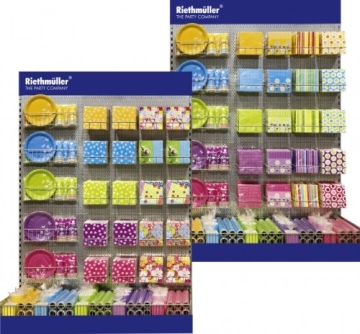 "Servietten: Party-Servietten ""Stripes Purple"", 33 x 33 cm, 20 Stück - 3"