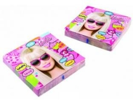 "Servietten: Party-Servietten, ""Totally Barbie"", 33 x 33 cm, 20er-Pack - 1"